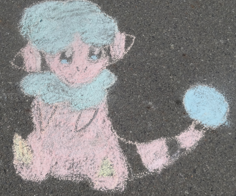 Flaaffy Chalk Art by tinystalker
