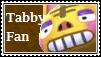 Tabby Fan Stamp
