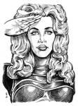 Sketch Card - Jane Fonda