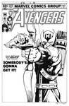 Avengers 223 Cover Recreation