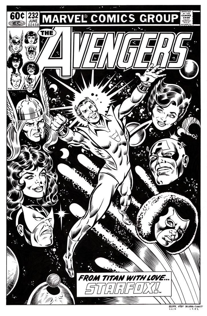 Avengers 232 Cover Recreation by dalgoda7