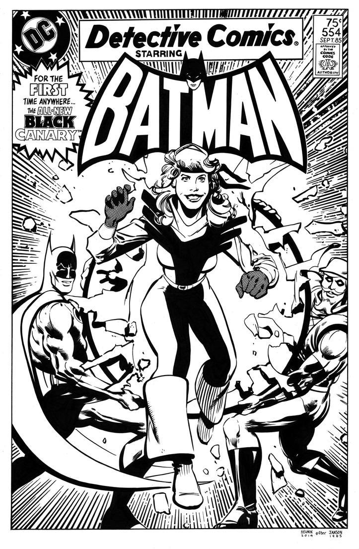 Detective Comics 554 Cover Recreation by dalgoda7