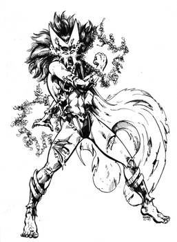 Old Art - Gamma Radiated Scarlet Witch (1997)