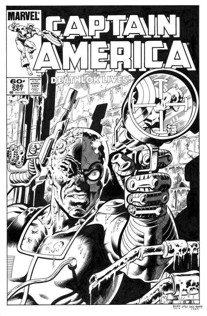 Captain America 286 Cover Recreation by dalgoda7