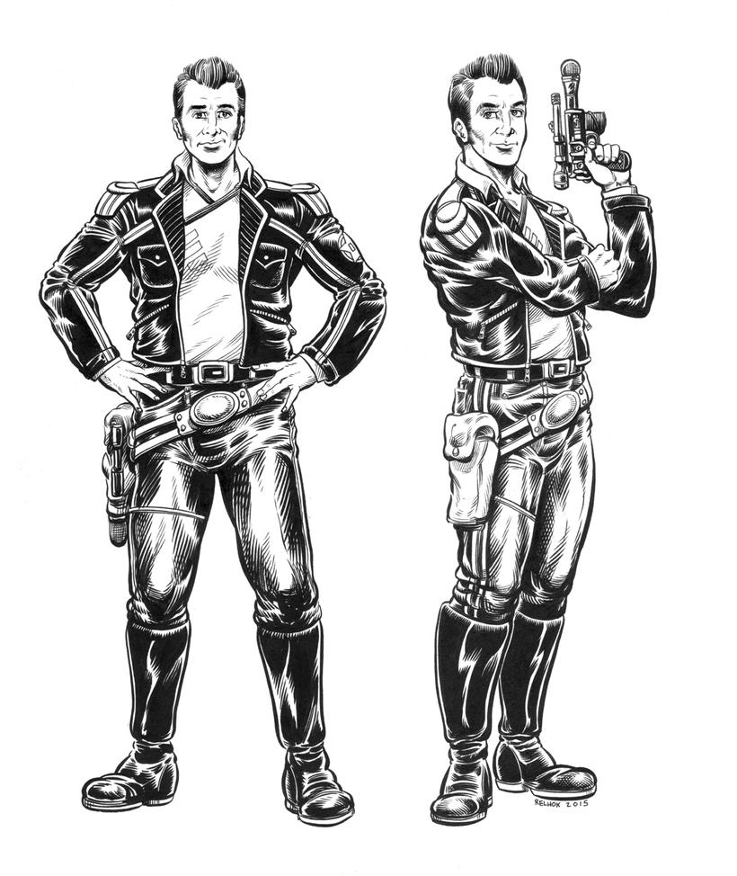Former Human Beings Model Sheets - Captain Black by dalgoda7