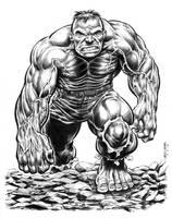 Incredible Hulk Inks by dalgoda7