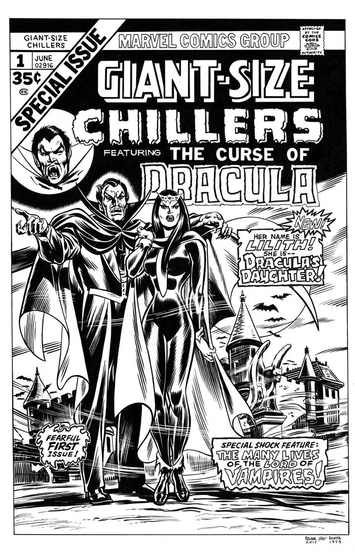 Giant-Size Chillers #1 Cover Recreation by dalgoda7