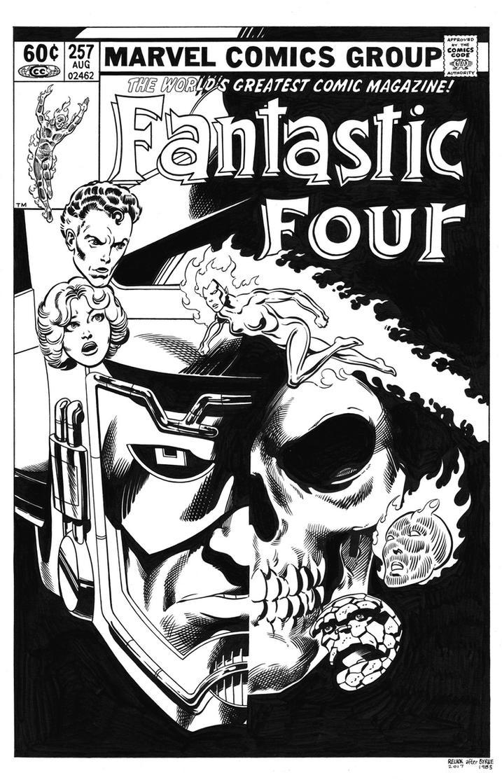 Fantastic Four #257 Cover Recreation by dalgoda7