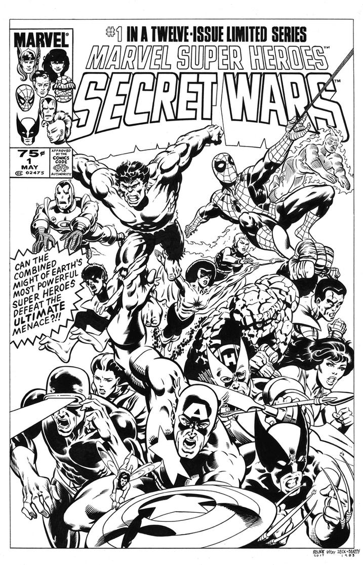 Secret Wars #1 Cover Recreation by dalgoda7
