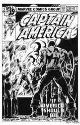 Captain America #231 Cover Recreation by dalgoda7