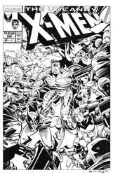 Uncanny X-Men #235 Cover Recreation by dalgoda7