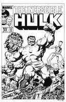 Incredible Hulk #314 Cover Recreation by dalgoda7