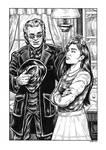 Silver Riders Illo #3 - Fallon and Cheyanne