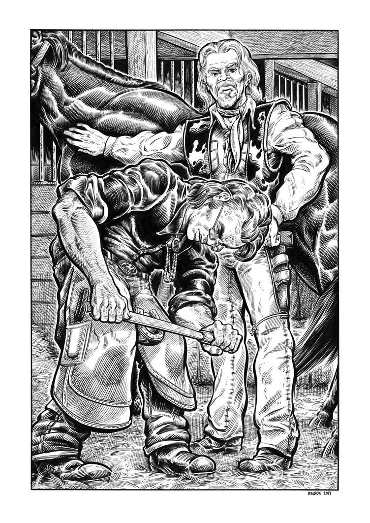 Silver Riders Illo #4 - Fallon chastises Brainerd by dalgoda7