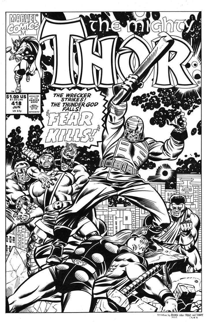 Thor #418 Cover Recreation by dalgoda7