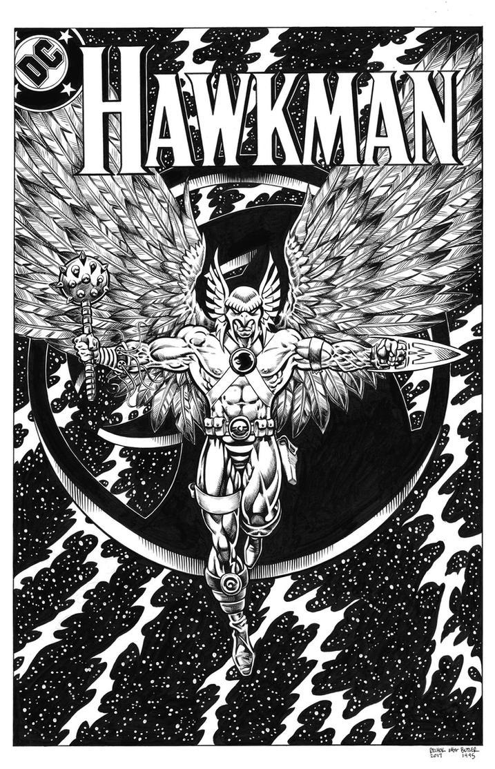 Hawkman Inks by dalgoda7