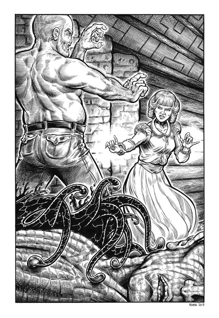 Silver Riders Illo #9 - Anne-Marie battles Ezekiel by dalgoda7