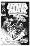 Iron Man #215 Cover Recreation