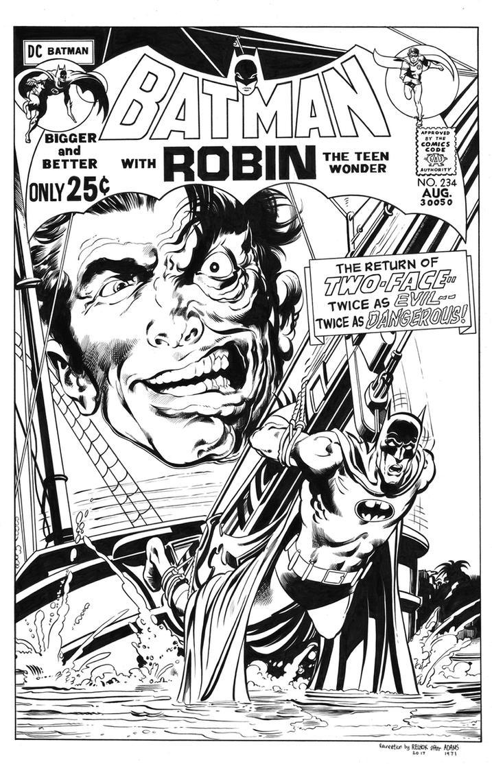 Batman #234 Cover Recreation by dalgoda7
