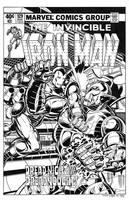 Iron Man #129 Cover Recreation by dalgoda7