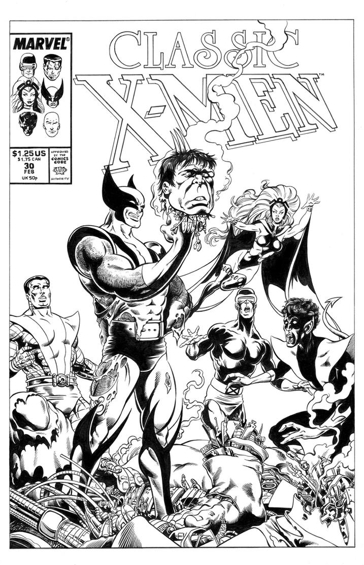 Classic X-Men #30 Cover Recreation by dalgoda7