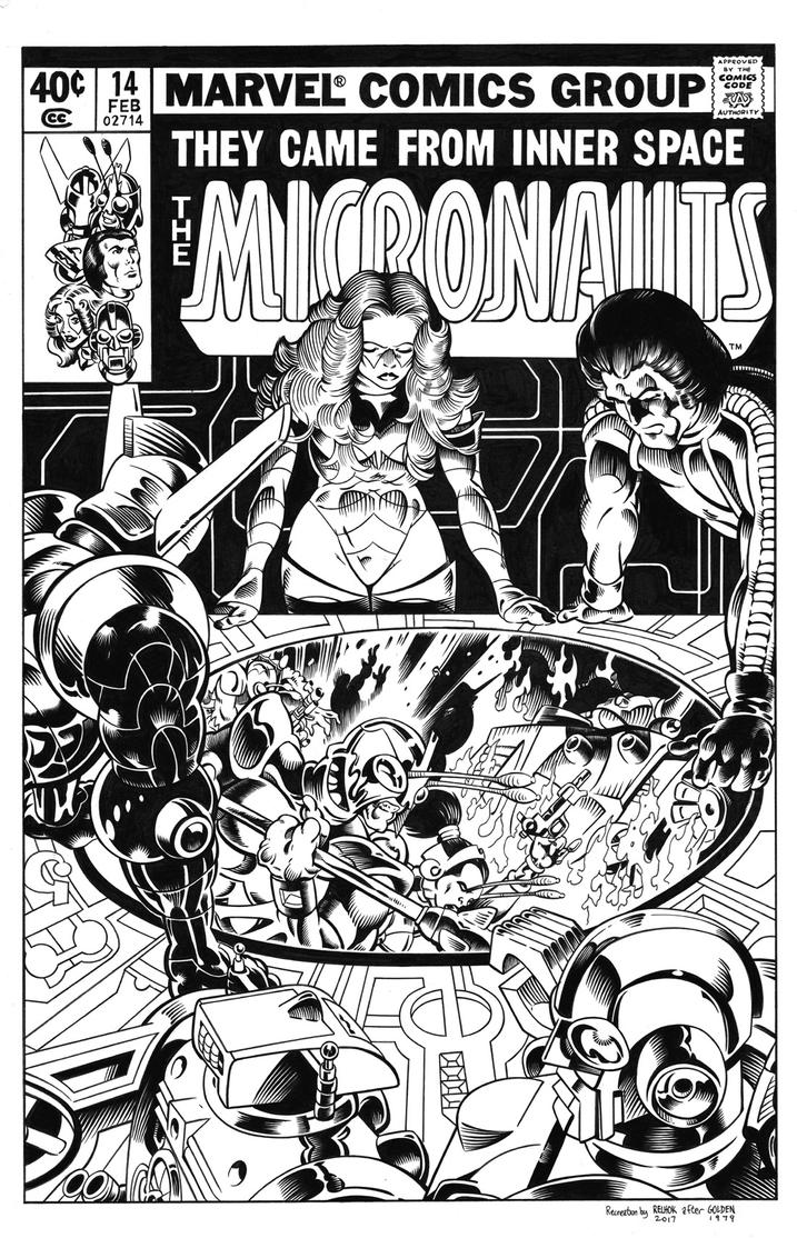Micronauts #14 Cover Recreation by dalgoda7