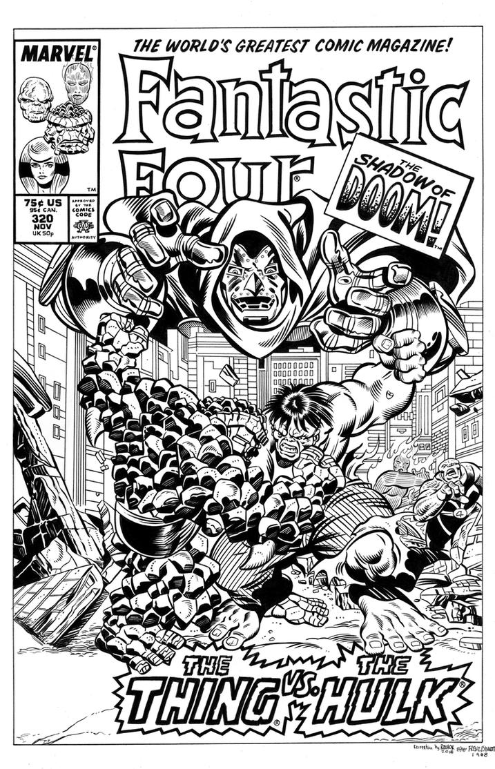 Fantastic Four #320 Cover Recreation by dalgoda7