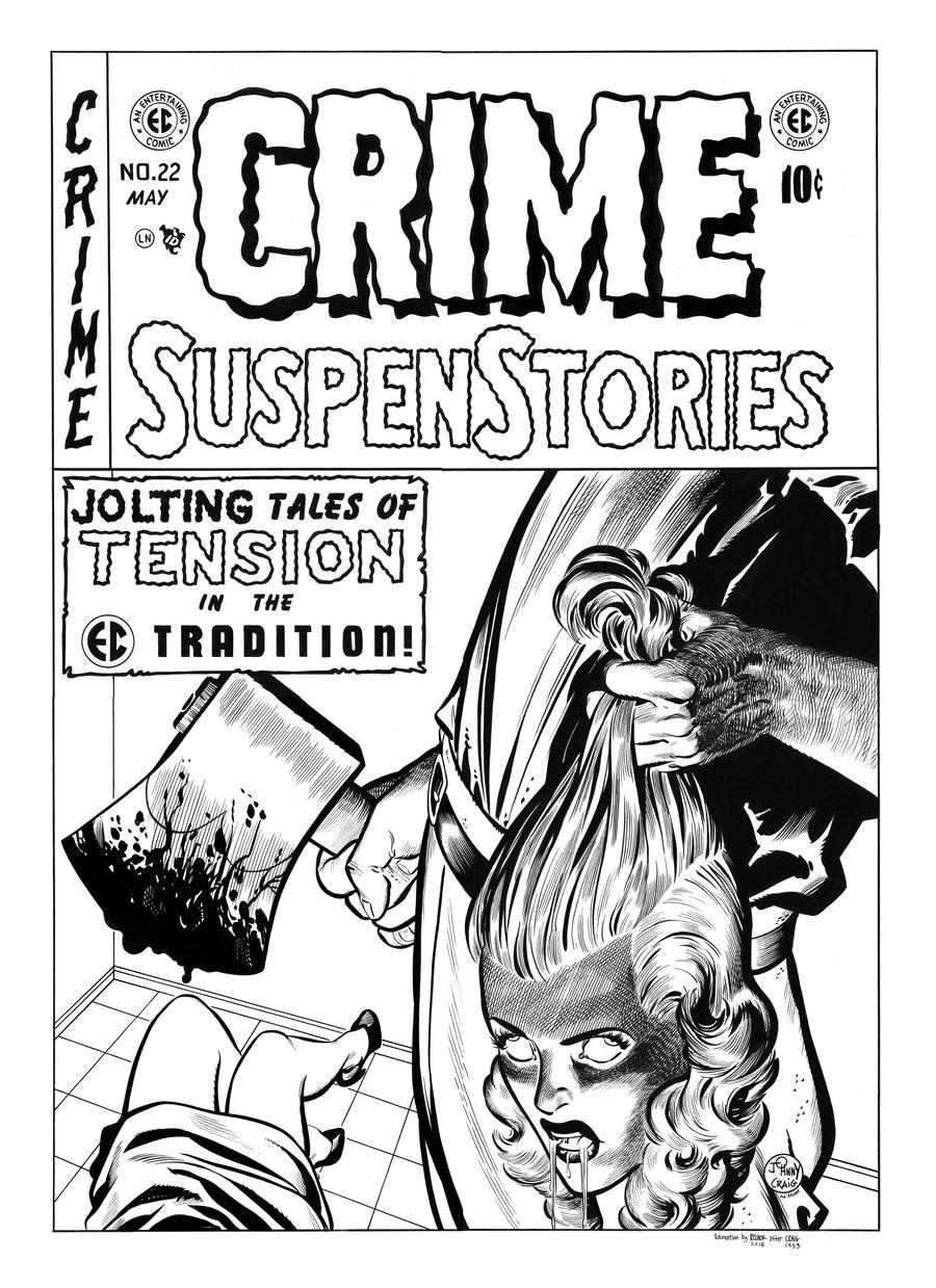 Crime SuspenStories #22 Cover Recreation by dalgoda7