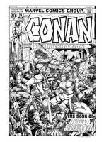 Conan #24 Cover Recreation by dalgoda7