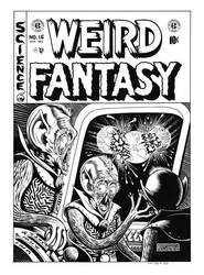 Weird Fantasy #16 Cover Recreation by dalgoda7