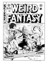 Weird Fantasy #21 Cover Recreation by dalgoda7