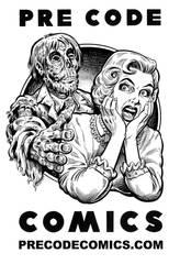 Pre Code Comics logo illustration by dalgoda7