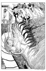 Uncanny X-Men #181 Cover Recreation by dalgoda7