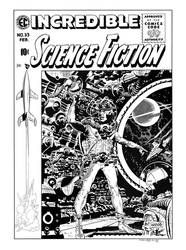 Incredible Science-Fiction #33 Cover Recreation by dalgoda7