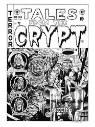 Tales From the Crypt #33 Cover Recreation by dalgoda7