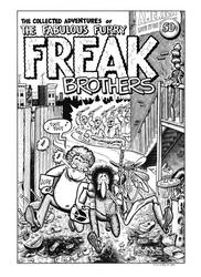 Fabulous Furry Freak Brothers #1 Cover Recreation by dalgoda7