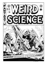 Weird Science #15 Cover Recreation