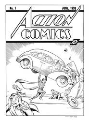 Action Comics #1 Cover Recreation