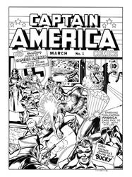 Captain America Comics #1 Cover Recreation