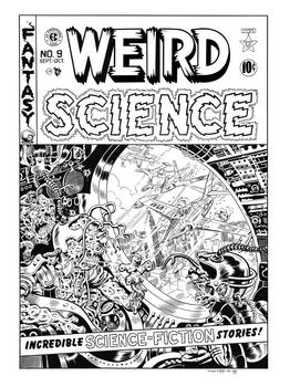 Weird Science #9 Cover Recreation