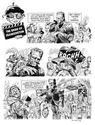 Bride of Frankenstein MAD page recreation