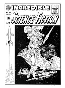 Incredible Science-Fiction #34 Cover Re-imagining
