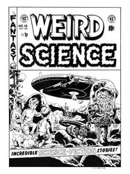 Weird Science #16 Cover Recreation by dalgoda7