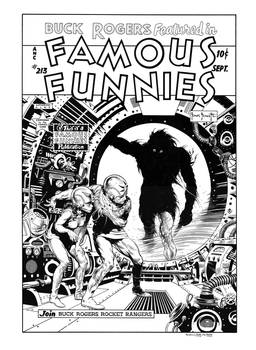 Famous Funnies #213 Cover Recreation