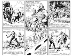 Flash Gordon Sunday page Recreation