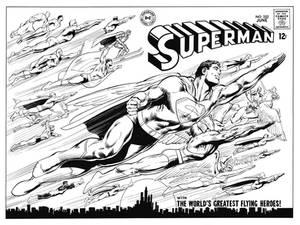 Superman 252 Cover Recreation