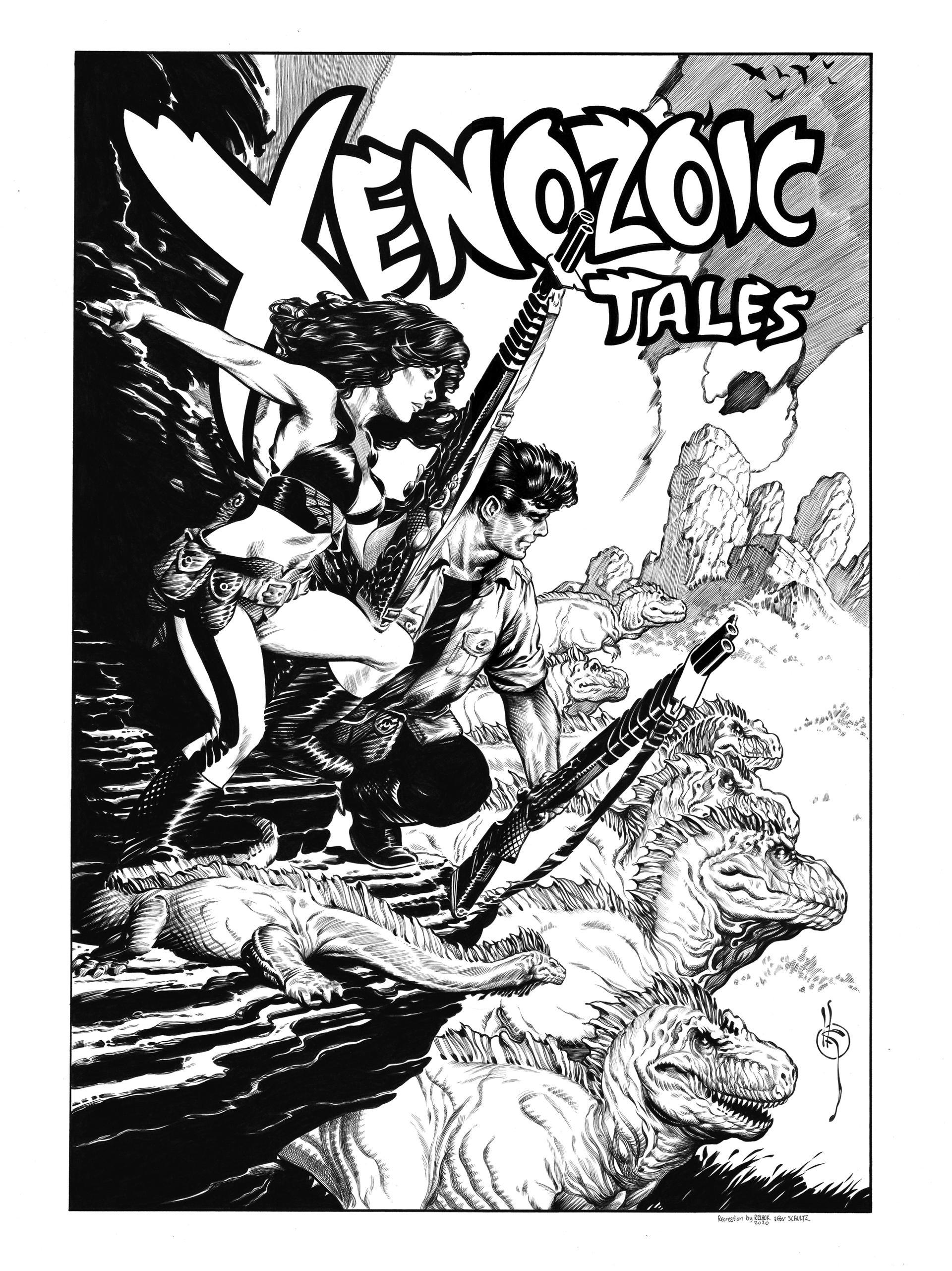 Xenozoic Tales Pinup Recreation 2