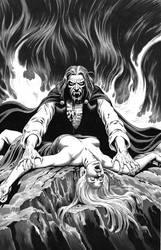 Russ Heath Vampire illo recreation