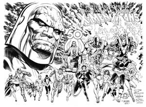 X-Men Teen Titans alternate cover inks