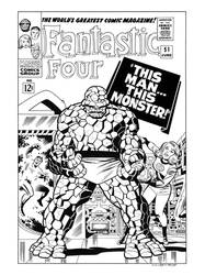 Fantastic Four #51 Cover Recreation